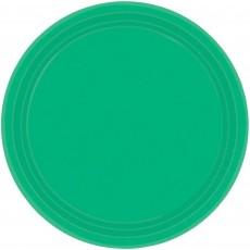 Green Festive Paper Dinner Plates