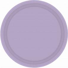 Lavender Party Supplies - Banquet Plates Paper Lavender Round
