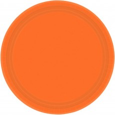 Orange Peel Paper Banquet Plates
