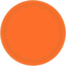 Round Orange Peel Paper Banquet Plates 26cm Pack of 20