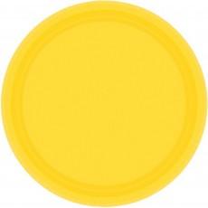Yellow Sunshine Paper Banquet Plates
