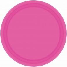 Pink Bright Paper Banquet Plates