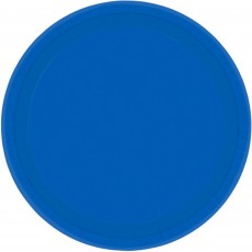Round Bright Royal Blue Paper Banquet Plates 26cm Pack of 20