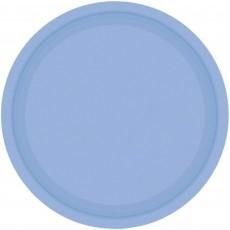 Round Pastel Blue Paper Banquet Plates 26cm Pack of 20