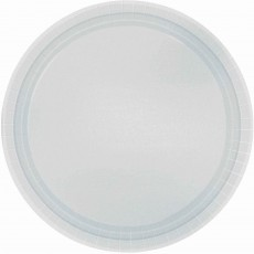 Round Silver Paper Banquet Plates 26cm Pack of 20