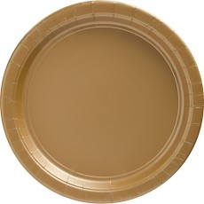 Round Gold Banquet Plates 26cm Pack of 20