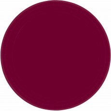 Round Berry Red Paper Banquet Plates 26cm Pack of 20