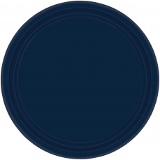 Round Navy Blue Banquet Plates 26cm Pack of 20
