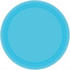 Blue Caribbean Paper Banquet Plates