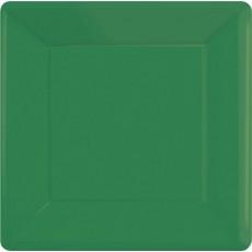 Green Festive Paper Banquet Plates