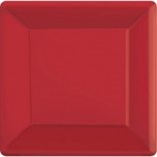 Red Apple Paper Banquet Plates