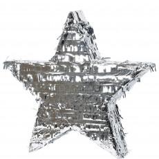 Silver Foil Star Pinata