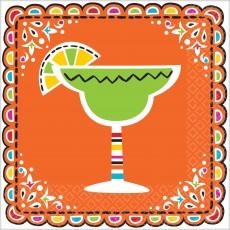 Mexican Fiesta Picado De Papel Beverage Napkins