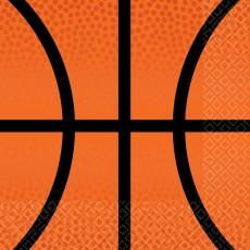 Basketball Fan Nothin' But Net Basketball Beverage Napkins