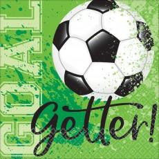 Soccer Party Supplies - Beverage Napkins Goal Getter