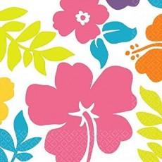 Hawaiian Summer Hibiscus Lunch Napkins