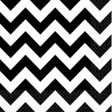 Chevron Design Black & White  Lunch Napkins