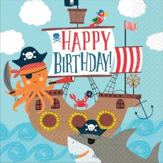 Ahoy Happy Birthday! Lunch Napkins Pack of 36