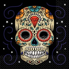 Halloween Sugar Skull Lunch Napkins