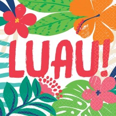 Hawaiian Luau Tropical Jungle Lunch Napkins