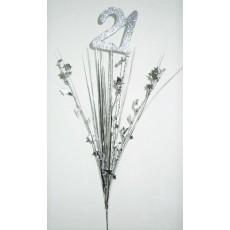 Silver 21st Birthday Onion Pick Spangle