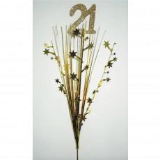 Gold 21st Birthday Onion Pick Spangle