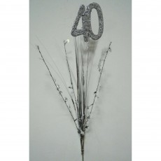 40th Birthday Silver Onion Pick Spangle