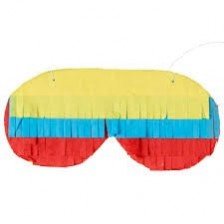 Multi Colour ed Pinata Blindfold Head Accessorie