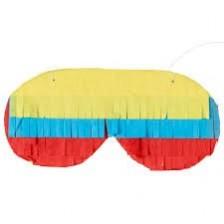 Multi Colour ed Pinata Blindfold Head Accessorie