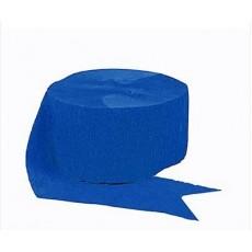 Blue Crepe Streamer