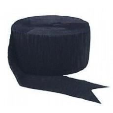 Black ii Crepe Streamer