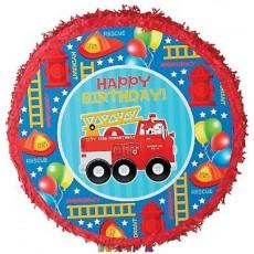 Firefighter Party Supplies - Pinata Fire Engine Fun