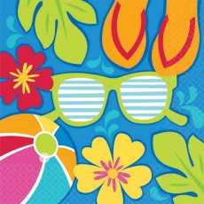 Hawaiian Luau Summer Splash Lunch Napkins