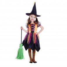 Halloween Deluxe Witch Girl Child Costume