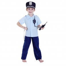Police Party Supplies - Child Costume Deluxe Policeman Boy