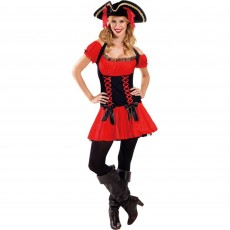 Pirate Deluxe  Girl Adult Costume