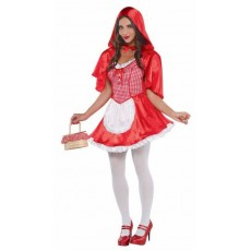 Red Deluxe  Riding Hood Adult Costume