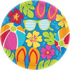 Hawaiian Party Decorations Summer Splash Banquet Plates