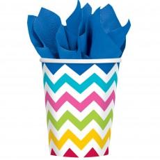 Chevron Design Bright Multi Coloured  Paper Cups