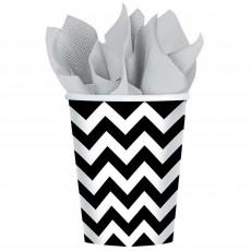 Chevron Design Black & White  Paper Cups