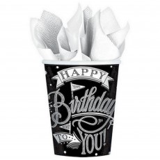 Hooray Happy Birthday to You! Paper Cups 266ml Pack of 18