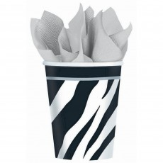 Birthday-licious Black & White Zebra Striped Bargain Corner