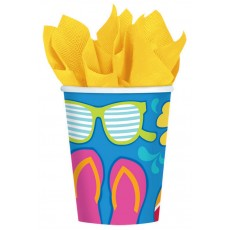 Hawaiian Luau Summer Splash Paper Cups