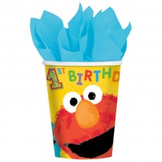 Elmo Turns One Sesame Street 1st Birthday Paper Cups
