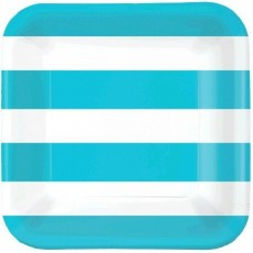 Dots & Stripes Caribbean Blue Cabana Stripe Lunch Plates
