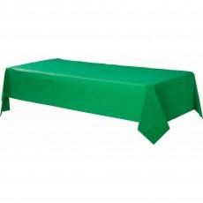 Festive Green Plastic Table Cover 1.37m x 2.74m