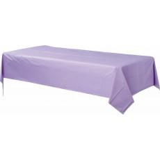 Lavender Party Supplies - Plastic Table Cover Lavender Rectangular