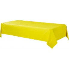 Sunshine Yellow Plastic Table Cover 1.37m x 2.74m