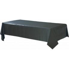 Rectangular Jet Black Plastic Table Cover 1.37m x 2.74m