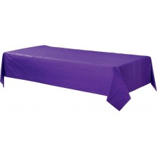 Purple New  Plastic Table Cover